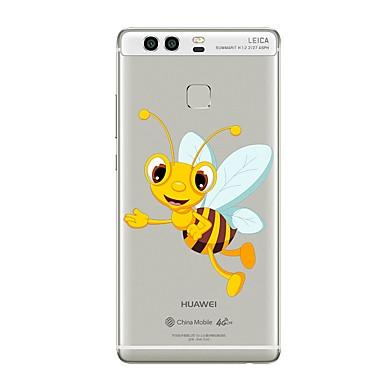 Caz pentru huawei p8 lite2017 p10 acoperi transparent caz de albine de desene animate soft tpu pentru p10 lite p10 plus p9 plus p9 lite p9