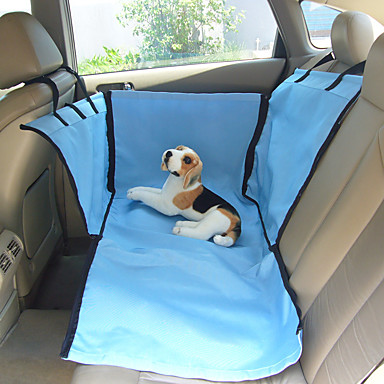 رخيصةأون مستلزمات وأغراض العناية بالكلاب-كلب سيارة مقعد الغطاء حيوانات أليفة سلال البيج أزرق للحيوانات الأليفة