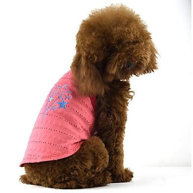 Hond Jurken Hondenkleding Sterren Paars Fuchsia Groen Katoen Kostuum Voor huisdieren Heren Dames Casual/Dagelijks