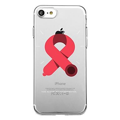 Maska Pentru Apple Transparent Model Carcasă Spate Inimă Model Geometric Moale TPU pentru iPhone 7 Plus iPhone 7 iPhone 6s Plus iPhone 6