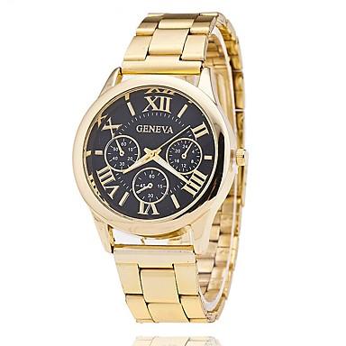 Bărbați Ceas Elegant Ceas La Modă Ceas de Mână Unic Creative ceas Ceas Casual Chineză Quartz Aliaj Bandă Charm Casual Elegant Auriu