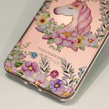 Apple TPU retro decorativo 8 disegno Fantasia Decorazioni iPhone X 06110381 Custodia Per Per Morbido Fiore iPhone in Unicorno rilievo Transparente paUqW5nx