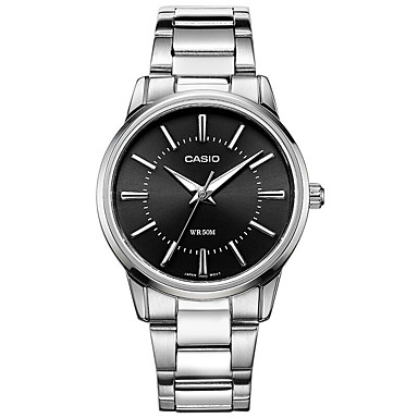 Casio Damen Modeuhr Armbanduhr Armbanduhren für den Alltag Japanisch Quartz Wasserdicht Edelstahl Band Bettelarmband Bequem Silber
