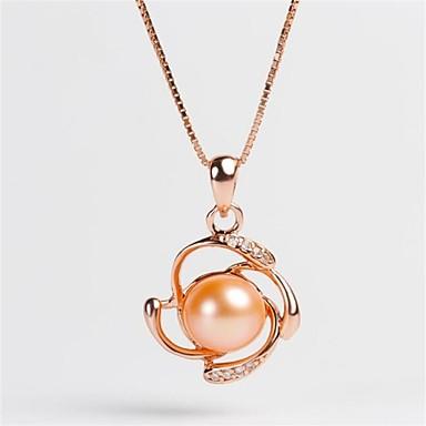 Damen Kragen Imitierte Perlen Geometrische Form Sterling Silber Modisch individualisiert Schmuck Für Hochzeit Party Alltag Verabredung