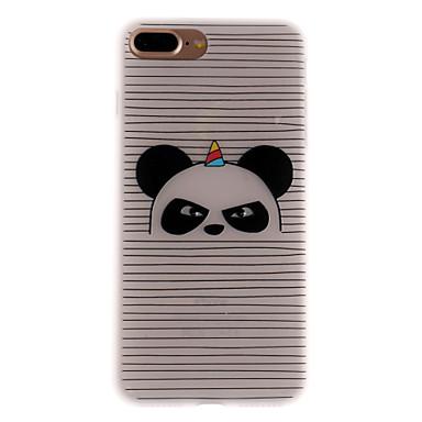 Caz pentru Apple iPhone 7 7 plus caz acoperă dungi model panda 3d relief lapte tpu material caz telefon pentru iphone 6s 6 plus se 5s 5