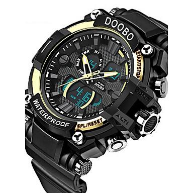 238a0262a رخيصةأون ساعات رقمية-رجالي ساعة المعصم ساعة رقمية سيليكون مطاط أسود مقاوم  للماء رزنامه إبداعي
