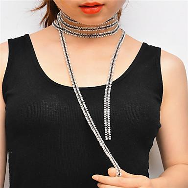 Pentru femei Lux Ștras Ștras Lănțișoare  -  Personalizat Lux Multi-moduri Wear Line Shape Auriu Negru Argintiu Coliere Pentru Crăciun