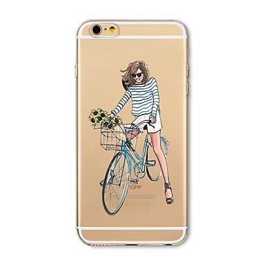 Hülle Für Apple iPhone X iPhone 8 Plus Transparent Muster Rückseite Sexy Lady Weich TPU für iPhone X iPhone 8 Plus iPhone 8 iPhone 7 Plus