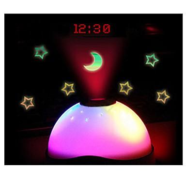 schimbare de culoare stele stea lumina de noapte a condus magie proiecție digitală starry alarma timp ceas