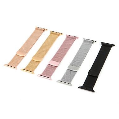 milanese loop para correa de reloj de apple correa 44mm / 40mm / 42mm / 38mm iwatch4 / 3/2 / 1stainless pulsera de eslabones de acero pulsera pulsera magnética