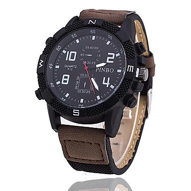 Herrn Sportuhr Militäruhr Modeuhr Armbanduhren für den Alltag Armbanduhr Einzigartige kreative Uhr Chinesisch Quartz PU Band Vintage