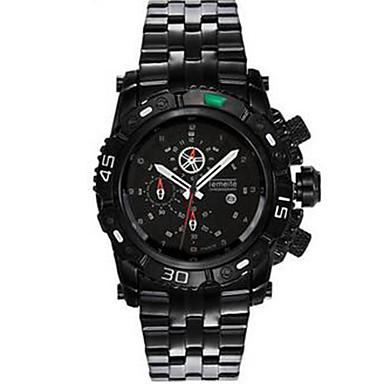 Heren Modieus horloge Kwarts Roestvrij staal Band Vrijetijdsschoenen Zwart Wit Zilver Goud