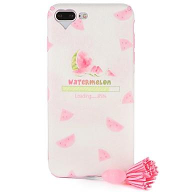Caz pentru Apple iphone 7 plus iphone 7 acoperire model spate acoperire caz cuvânt / frază inima fructe moi tpu cu ciucure pentru iphone