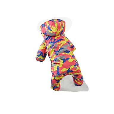 Hond Regenjas Hondenkleding Casual/Dagelijks Kleurenblok Oranje Groen Blauw Kostuum Voor huisdieren