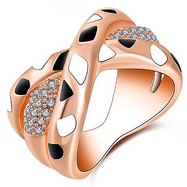 Pentru femei Band Ring Zirconiu Cubic Personalizat Lux Clasic De Bază Sexy Iubire Elegant Cute Stil Modă Aliaj Geometric Shape Bijuterii