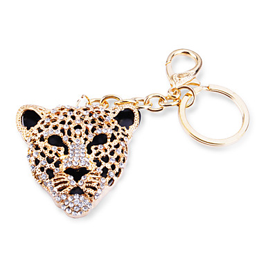 Tas / telefoon / sleutelhanger charme luipaard strass stijl zinklegering
