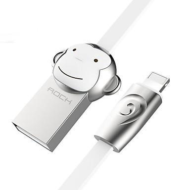 ROCK USB 2.0 Kabel, USB 2.0 to Lightning Kabel Mannelijk - Mannelijk 1.0m (3Ft)