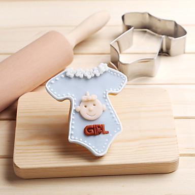 Baby-Kekse Kekse Schere Edelstahl Keks Kuchen Schimmel Fondant Backen Werkzeuge