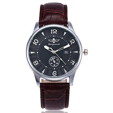 Herrn Kleideruhr Modeuhr Armbanduhr Einzigartige kreative Uhr Armbanduhren für den Alltag Chinesisch Quartz Kalender Leder Band Charme