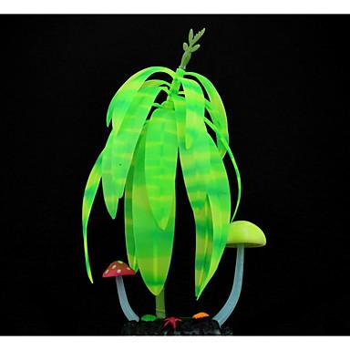 Decorațiune pentru Acvariu Plante Luminos Cauciuc
