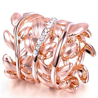 Damen Bandringe Kristall Personalisiert Luxus Klassisch Grundlegend Sexy Liebe Modisch nette Art Elegant Krystall Aleación Blattform