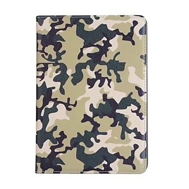 Para apple ipad (2017) 9.7 estojo de cartão de capa com capa de corpo cheio capa de camuflagem cor dura para couro de ipad 2 / ipad air 1