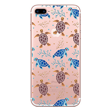 hoesje Voor Apple iPhone 7 Plus iPhone 7 Transparant Patroon Achterkant dier Zacht TPU voor iPhone 7 Plus iPhone 7 iPhone 6s Plus iPhone