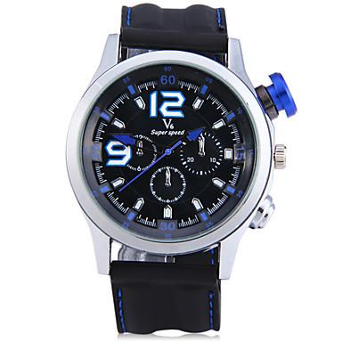 V6 Heren Polshorloge Modieus horloge Sporthorloge Vrijetijdshorloge Chinees Kwarts Grote wijzerplaat Stopwatch Silicone Band Informeel