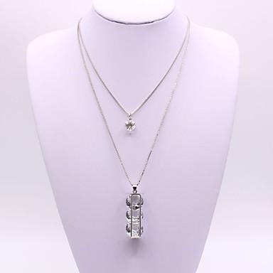 Pentru femei Geometric Shape Formă Clasic Modă Coliere cu Pandativ Diamant sintetic Aliaj Coliere cu Pandativ Petrecere Cadou Zilnic