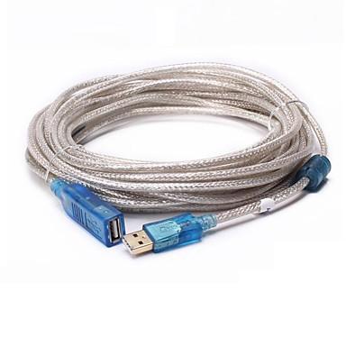 USB 2.0 Cablu prelungitor, USB 2.0 to USB 2.0 Cablu prelungitor Bărbați-Damă 15.0m (50ft)