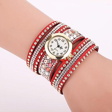 Pentru femei Ceas La Modă Ceas Brățară Unic Creative ceas Ceas Casual Simulat Diamant Ceas Chineză Quartz imitație de diamant PU Bandă