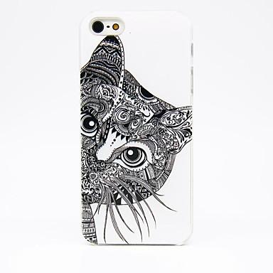 Pentru Carcasă iPhone 5 Carcase Huse Stralucire in intuneric Translucid Model Carcasă Spate Maska Pisica Greu PC pentruiPhone SE/5s