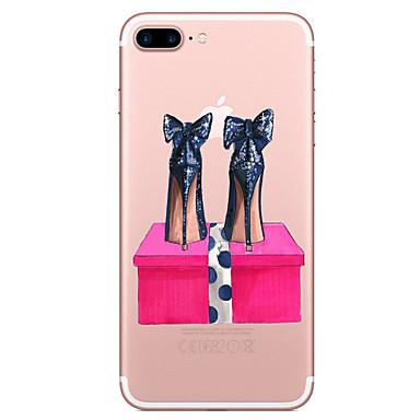 Hülle Für Apple iPhone 7 Plus iPhone 7 Transparent Muster Rückseite Sexy Lady Weich TPU für iPhone 7 Plus iPhone 7 iPhone 6s Plus iPhone