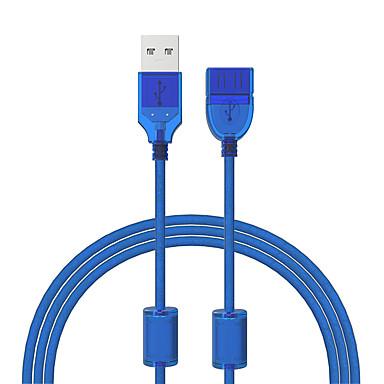 Cwxuan USB 2.0 Cablu prelungitor, USB 2.0 to USB 2.0 Cablu prelungitor Bărbați-Damă 1.2m (4ft) 480 Mbps