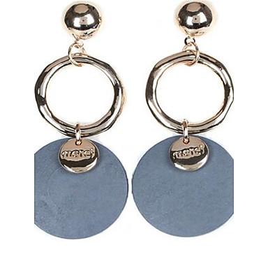 Damen Tropfen-Ohrringe Modisch individualisiert nette Art überdimensional Holz Runde Form Schmuck Für Normal Verabredung Strasse