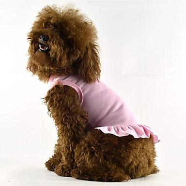Hond Jurken Hondenkleding Effen Rood Blauw Roze Katoen Kostuum Voor huisdieren Zomer Heren Dames Casual / Dagelijks