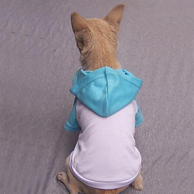 Hond T-shirt Hoodies Hondenkleding Casual/Dagelijks Effen Grijs Fuchsia Rood Blauw Roze Kostuum Voor huisdieren