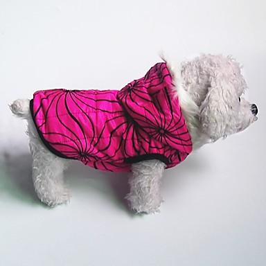 Câine Haine Hanorace cu Glugă Jachete cu Puf Îmbrăcăminte Câini Cald Casul/Zilnic Geometric Fucsia Albastru Costume Pentru animale de