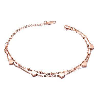 Pentru femei Brățări cu Talismane Zirconiu Cubic Design Basic Franjuri La modă Adorabil bijuterii de luxZirconiu Cubic Oțel titan Placat