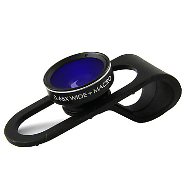 Handy-Objektiv Weitwinkelobjektiv Makro-Objektiv Aluminium Legierung 10x und höher 0.015