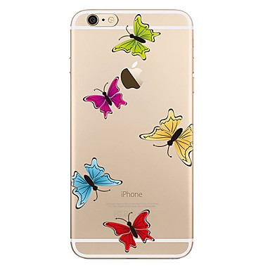 Maska Pentru Apple iPhone 7 Plus iPhone 7 Transparent Model Capac Spate Fluture Moale TPU pentru iPhone 7 Plus iPhone 7 iPhone 6s Plus