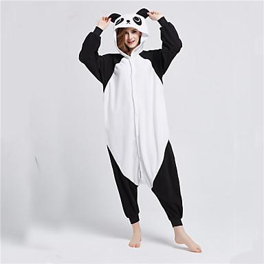 d99828a4910c34 Adulto Pijamas Kigurumi Panda Animal Pijamas Macacão Lã Polar Preto ...