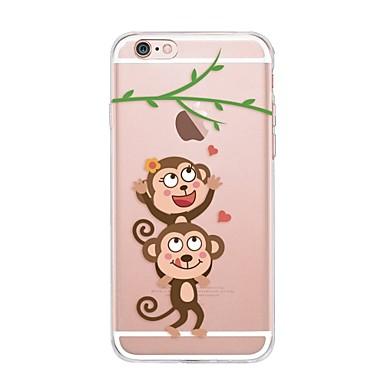 케이스 제품 Apple iPhone X iPhone 8 투명 패턴 뒷면 커버 애플로고 관련 카툰 소프트 TPU 용 iPhone X iPhone 8 Plus iPhone 8 iPhone 7 Plus iPhone 7 iPhone 6s Plus