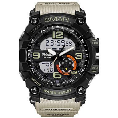 Χαμηλού Κόστους Ανδρικά ρολόγια-SMAEL Ανδρικά Αθλητικό Ρολόι Ρολόι Καρπού Ψηφιακό ρολόι Ψηφιακή καουτσούκ Μαύρο 30 m Ανθεκτικό στο Νερό Συναγερμός LED Αναλογικό-Ψηφιακό καμουφλάζ Μοντέρνα - Μπλε Απαλό Χακί καμουφλάζ Πράσινη