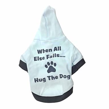 كلب هوديس ملابس الكلاب كاجوال/يومي بلوك ألوان أسود أحمر أسود/أبيض كوستيوم للحيوانات الأليفة