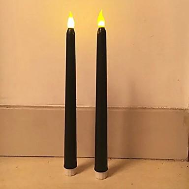 2pcs 11tall clasic pâlpâie fără flacără condus lumânări conuri de lumină LED-uri conduse de baterii