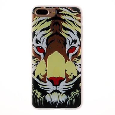hoesje Voor Apple Reliëfopdruk Patroon Achterkantje dier Zacht TPU voor iPhone 7 Plus iPhone 7 iPhone 6s Plus iPhone 6 Plus iPhone 6s