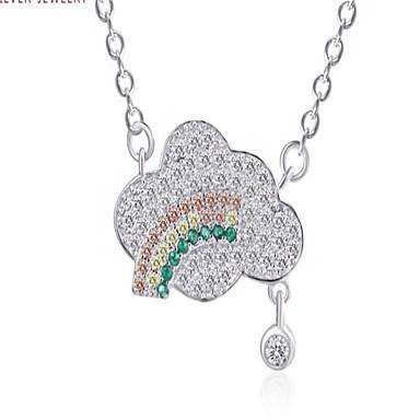 Dames Hangertjes ketting imitatie Diamond Legering Modieus PERSGepersonaliseerd Eenvoudige Stijl Sieraden Voor Bruiloft Feest AvondFeest