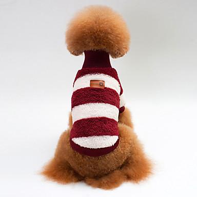 Câine Γιλέκο Îmbrăcăminte Câini Casul/Zilnic Dungi Albastru Închis Gri Trandafiriu Costume Pentru animale de companie