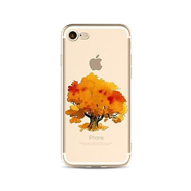 hoesje Voor Apple iPhone X iPhone 8 Plus Transparant Patroon Achterkantje Boom Zacht TPU voor iPhone X iPhone 7s Plus iPhone 8 iPhone 7